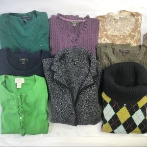 Quality fabric resellers sweaters bundle, 8 items